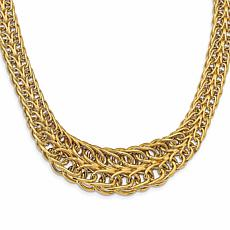 14K Gold Polished Bold Fancy Link Necklace