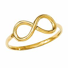 14K Gold Polished Infinity Ring - 1/4""