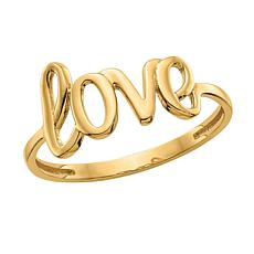 14K Gold Polished Love Ring