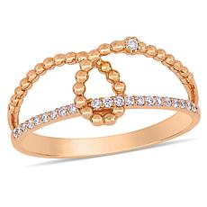 14K Rose Gold 0.10ctw Diamond Loop Pavé Ring
