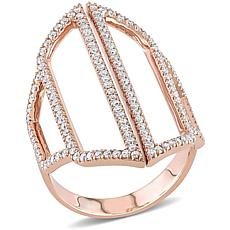 14K Rose Gold .70ctw Diamond Open Geometric Ring