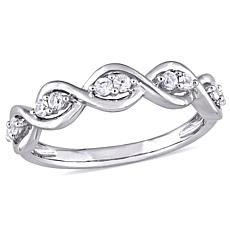 14K White Gold 0.3ctw White Sapphire Stackable Infinity Band Ring