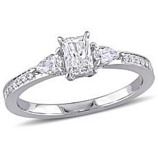 14K White Gold 0.61ctw Diamond Engagement Ring