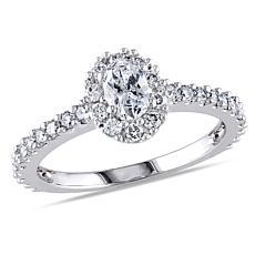 14K White Gold 0.97ctw White Diamond Engagement Ring