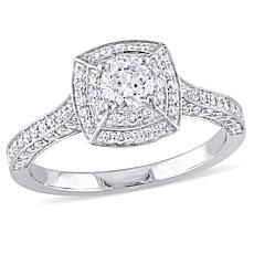 14K White Gold 1.02ctw Round Diamond Engagement Ring