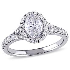 14K White Gold 1.47ctw Diamond Engagement Ring