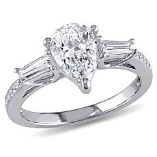 14K White Gold 1.55ctw Pear-Cut Diamond Engagement Ring