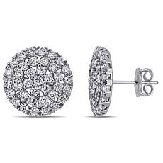 14K White Gold 2.22ctw Diamond Circular Stud Earrings