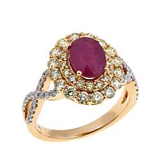 14K Yellow Gold 2.17ctw Ruby and Diamond Ring