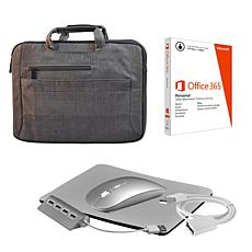 """15"""" 2-in-1 Business Carrier w/Microsoft Office Personal & Accessories"""