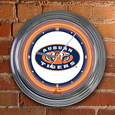 "15"" Neon Team Clock - Auburn - College"