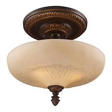 "15"" Semi-Flush Ceiling Light - Golden Bronze"