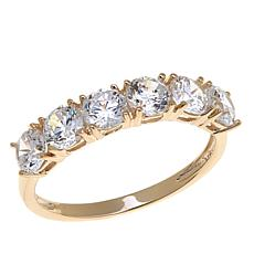 1.50ctw Absolute™ Cubic Zirconia 10K 6-Stone Band Ring
