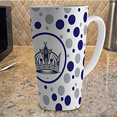 16 oz. Polka Dot Latte Mug with Team Colors - Kings