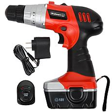 18-Volt Cordless Drill with LED Light and Extras