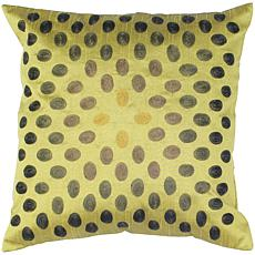 "18"" x 18"" Thumbprint Pillow - Green/Green"