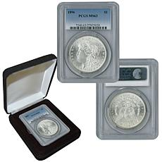 1896 P-Mint MS63 PCGS Morgan Silver Dollar with Box
