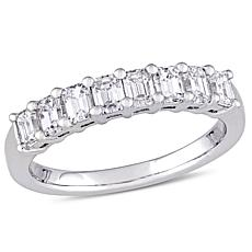 1ctw 8-Stone Diamond 14K White Gold Band Ring