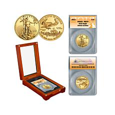 2013 MS70 ANACS $10 Gold Eagle Coin with Wooden Box