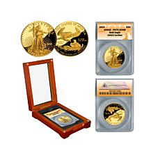 2013 PR70 ANACS $25 Gold Eagle Coin with Wooden Box