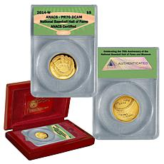 2014 PR70 Proof DCAM ANACS Baseball Hall of Fame 75th A