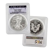 2017 MS69 PCGS S-Mint Premier Label Silver Eagle Dollar Coin