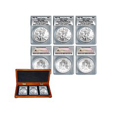 2017 MS70 FDOI LE 2017 Silver Eagle Complete Mint Set