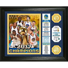 "2017 NBA Champions  ""Banner"" Bronze Coin Photo Mint"