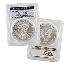 2017 P-Mint MS69 PCGS Premier Label Silver Eagle Dollar Coin