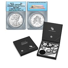 2017 Proof Set with PR70 Proof FDOI LE 797 Silver Eagle