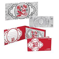 2018 Disney Lunar Year of the Dog 5 gram Silver Bill