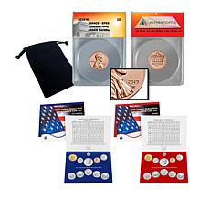 2019 P&D U.S. Mint Uncirculated Coin Sets and SP69 Lincoln Penny