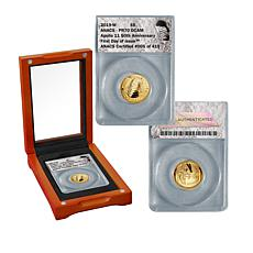2019 PR70 FDOI LE 419 Apollo 11 50th Anniversary $5 Gold Coin