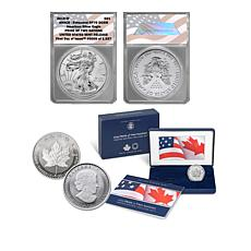 """2019 RP70 FDOI LE U.S. Mint Release """"Pride of Two Nations"""" 2-Coin Set"""