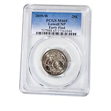 "2019-W MS65 PCGS ""Early Find"" Lowell National Historical Park Quarter"