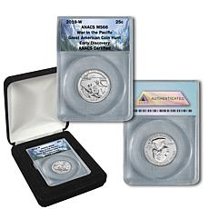 """2019-W MS66 ANACS """"Early Discovery"""" War in the Pacific Quarter"""