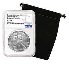2020 MS69 NGC Emergency Issue Silver Eagle Dollar Coin