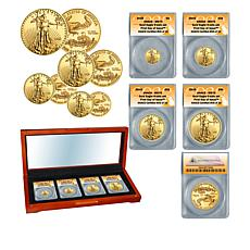 2020 MS70 ANACS FDOI Limited Edition of 24 Gold Eagle 4-Coin Set