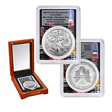 2020-P MS70 FDOI Emergency Silver Eagle w/Empire State Building Label
