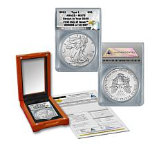 2021 MS70 ANACS FDOI LE 10,987 Silver Eagle Struck in 2020