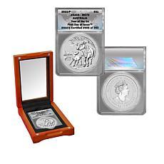 2021 MS70 ANACS FDOI LE 253 Australia Lunar Year of the Ox Silver Coin