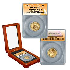 2021 MS70 First Release Limited Edition 175 Type II $5 Gold Eagle