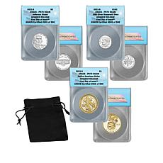 2021 PF70 ANACS FDOI LE 586 Advance Release Silver Proof 3-Coin Set