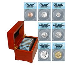 2021 PF70 ANACS FDOI LE 80 Advance Releases Silver Proof Set