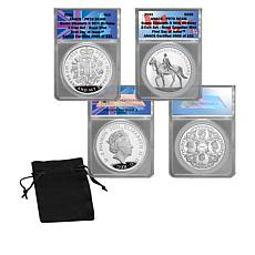 2021 PR70 ANACS Queen Elizabeth II 95th Birthday Silver Coin Set