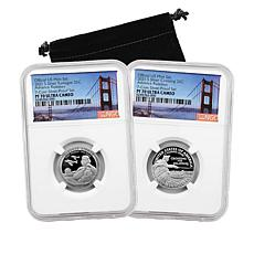 2021-S PF70 NGC Advance Releases Silver Proof Set Quarters