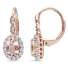 2.28ctw Pink Morganite and Gem 14K Earrings