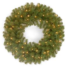"24"" North Valley Spruce Wreath w/Lights"