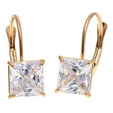 2.50ctw Absolute™ 14K Princess-Cut Leverback Earrings