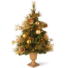 3 ft. Decorative Collection Elegance Entrance Tree with Clear Lights